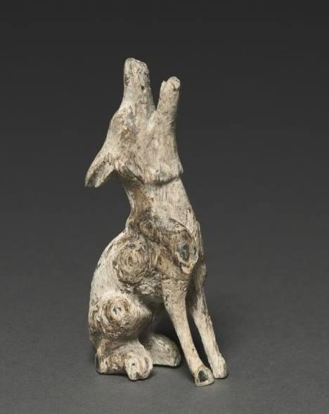 Cleveland Müzesinde MÖ 500 – 200 ile tarihlenen Kun Türklerine ait Uluyan Bozkurt