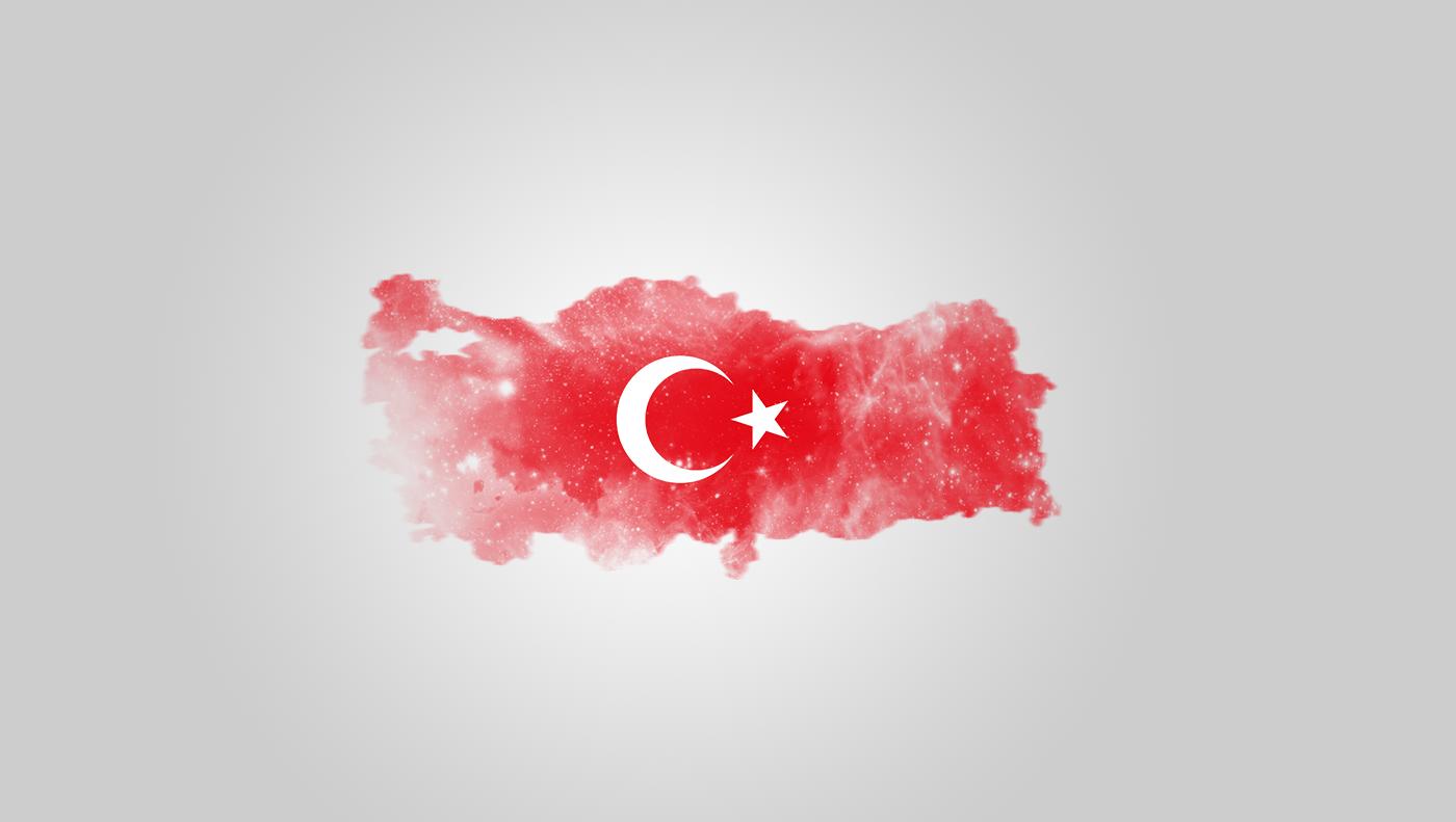 Türk Bayrağı Türkiye Haritası Kapak Fotoğrafı