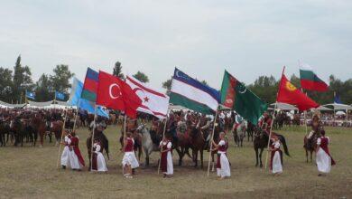 Türk Devletleri Bayrakları - Macaristan Turan Kurultayı Bugac 2012.